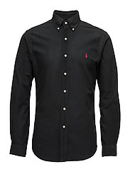 Slim Fit Cotton Oxford Shirt - RL BLACK