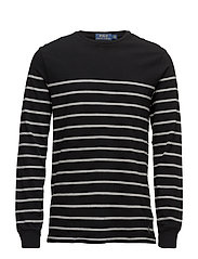 Striped Cotton Jersey Pullover - POLO BLACK/ANDOVE