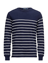 Striped Cotton Jersey Pullover - FRENCH NAVY/NEVIS