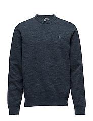 Double-Knit Sweatshirt - BLUE ECLIPSE HTHR