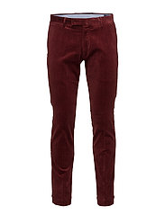 Stretch Slim Fit Corduroy Pant - BARCLAY RED