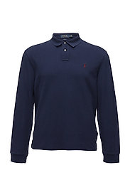 Slim Fit Weathered Mesh Polo - WINDSOR NAVY