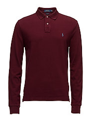 Slim Fit Weathered Mesh Polo - FALL BURGUNDY