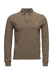 Slim Fit Weathered Mesh Polo - PARTRIDGE