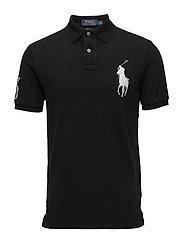 Custom Slim Fit Cotton Mesh Polo - POLO BLACK