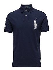 Custom Slim Fit Cotton Mesh Polo - NEWPORT NAVY