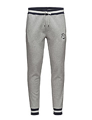Double-Knit Graphic Jogger - ANDOVER HEATHER
