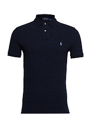 Custom Slim Fit Mesh Polo - WORTH NAVY HEATHE