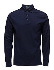Custom Slim Cotton Mesh Polo - CRUISE NAVY