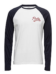 Cotton Raglan Baseball T-Shirt - WHITE