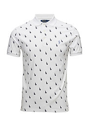 Slim Fit Soft-Touch Polo Shirt - WHITE SAILBOAT
