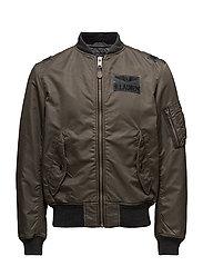 Twill Bomber Jacket - LODEN GREY