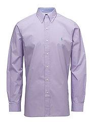 Classic Fit Cotton Poplin Shirt - POWDER PURPLE