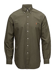 Classic Fit Cotton Oxford Shirt - SERVICE GREEN