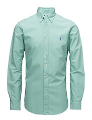 Slim Fit Cotton Oxford Shirt - BAYSIDE GREEN