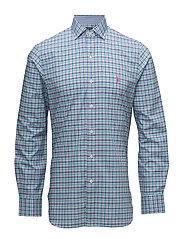 Slim Fit Cotton Poplin Shirt - 2123 FOAM GREEN/P