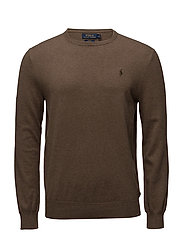 Slim Fit Cotton Sweater - CEDAR HEATHER