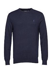 Slim Fit Cotton Sweater - HUNTER NAVY