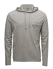 Cotton Graphic Hooded T-Shirt - ANDOVER HEATHER