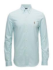 Slim Fit Oxford Shirt - AQUAMARINE/WHITE