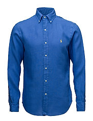 Slim Fit Linen Sport Shirt - ALPINE ROYAL