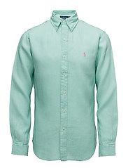 Slim Fit Linen Sport Shirt - BAYSIDE GREEN