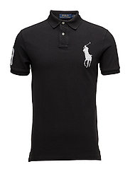 Slim-Fit Mesh Polo Shirt - POLO BLACK