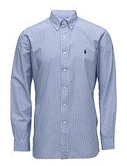 Classic Fit Cotton Sport Shirt - 2539 BLUE/WHITE M