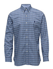 Classic Fit Cotton Sport Shirt - 2587 MULTI BLUE/W