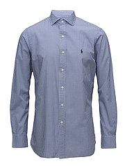 Classic Fit Cotton Sport Shirt - 2541 BLUE/WHITE