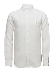Classic Fit Linen Sport Shirt - WHITE
