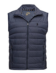 Packable Down Vest - WORTH NAVY HEATHE