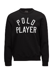 Double-Knit Graphic Sweatshirt - POLO BLACK