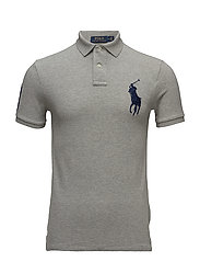 Slim Fit Mesh Polo Shirt - ANDOVER HEATHER