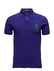 Slim Fit Mesh Polo Shirt - CHALET PURPLE