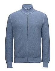 PIMA COTTON-LS FZ PP - JAMAICA BLUE HEAT