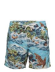 5¾-Inch Traveler Swim Trunk - LANDSCAPE HAWAIIA