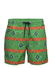 EXPLORER SHORT W/ SWIM BAG - GREEN NATIVE STRI