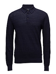 Cotton-Linen Sweater - NAVY