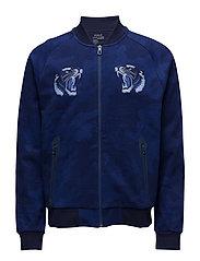 Active Fit Cotton-Blend Jacket - NAVY HEX CAMO PRI