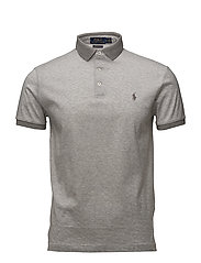 Custom Slim Fit Jersey Polo - ANDOVER HEATHER/W