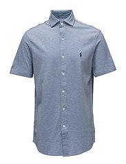 Custom Slim Fit Mesh Shirt - CAMPUS BLUE HEATH