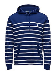 Cotton Hooded T-Shirt - FALL ROYAL/WHITE