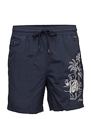 Explorer Swim Trunk - HUNTER NAVY W/ EM