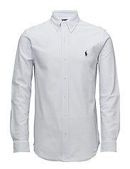 Classic Fit Knit Oxford Shirt - WHITE/DRESS SHIRT
