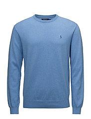 Slim Fit Cotton Sweater - NANTUCKET BLUE HE