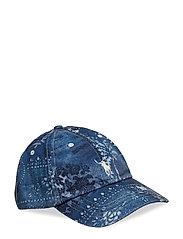 Bandanna Print Baseball Cap - MOROCCAN TILE