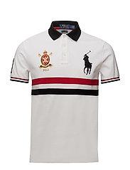 Custom Slim Fit Mesh Polo - WHITE MULTI