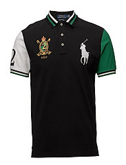 Custom Slim Fit Mesh Polo - POLO BLACK MULTI