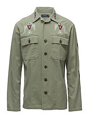 Classic Fit Cotton Shirt - ARMY OLIVE